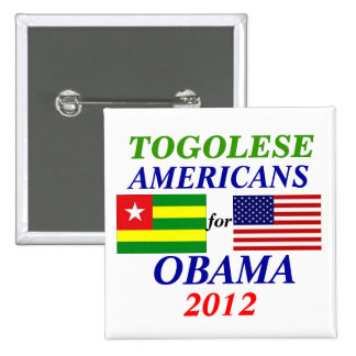 togolese americans for Obama Pinback Buttons
