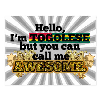 Togolese, but call me Awesome Postcard