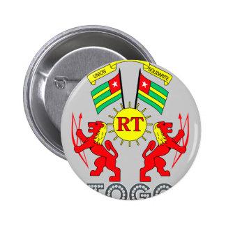 Togolese Emblem Pinback Button