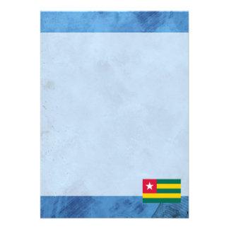 "Togolese flag 5"" x 7"" invitation card"