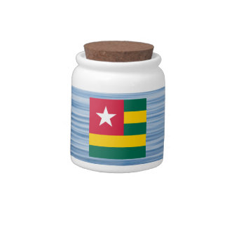 Togolese Flag Floating on water Candy Dish