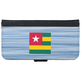 Togolese Flag Floating on water iPhone 6 Wallet Case