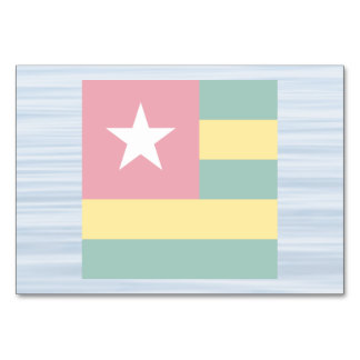 Togolese Flag Floating on water Table Cards