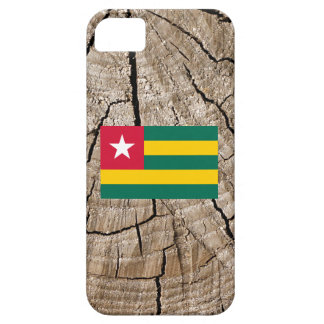 Togolese flag on tree bark iPhone 5 cases
