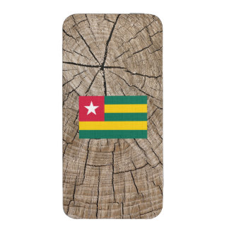 Togolese flag on tree bark iPhone 5 pouch