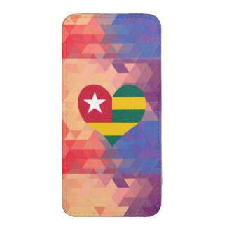 Togolese Flag Star On A Bokeh iPhone 5 Pouch