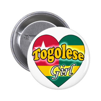 Togolese Girl Pinback Buttons