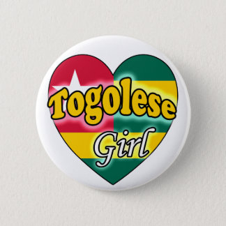 Togolese Girl Pinback Button