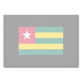 Togolese National flag of Togo-01.png Table Cards