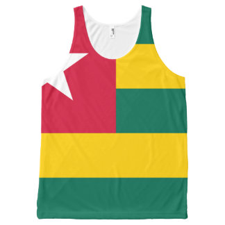 Togolese National flag  shirt All-Over Print Tank Top