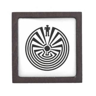 Tohono O odham Man in the Maze Collector Gift BOX Premium Jewelry Box
