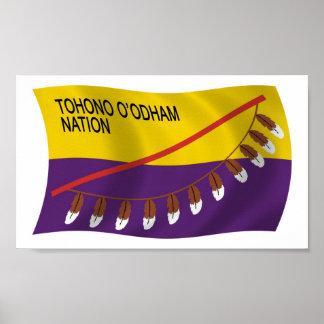 Tohono O odham Nation Flag Poster Print