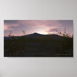 Tohono O odham Sunrise Poster