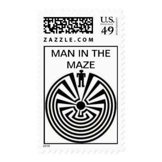 Tohono O odhan Man in the Maze Postage Stamp