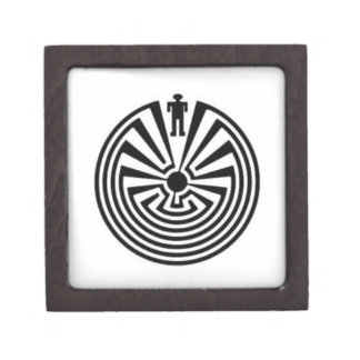 Tohono O'odham Man in the Maze Collector Gift BOX Premium Keepsake Box