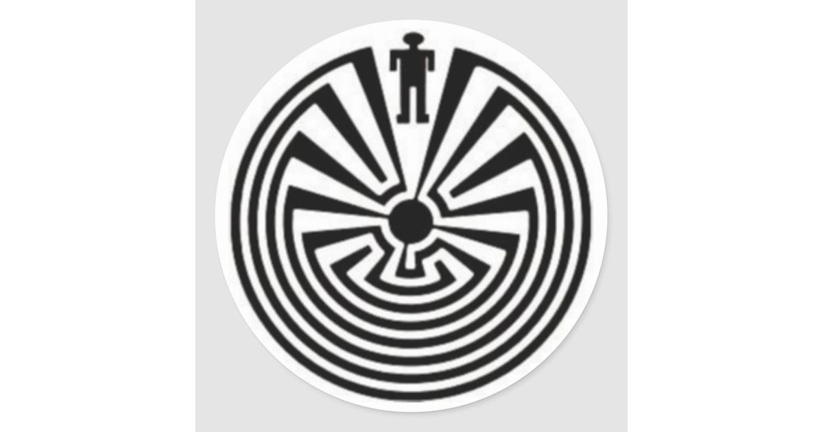 Tohono O Odham Man In The Maze Collector Stickers Zazzle Com