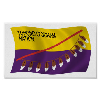 Tohono O'odham Nation Flag Poster Print