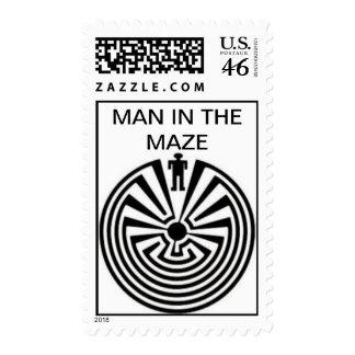 Tohono O'odhan Man in the Maze Postage Stamp