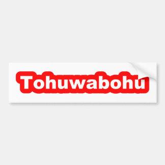 Tohuwabohu Bumper Sticker Car Bumper Sticker