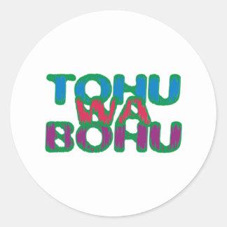tohuwabohu hullabaloo classic round sticker