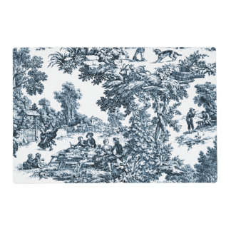 Toile azul clásico tapete individual