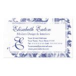 Toile barroco francés azul elegante tarjetas de visita