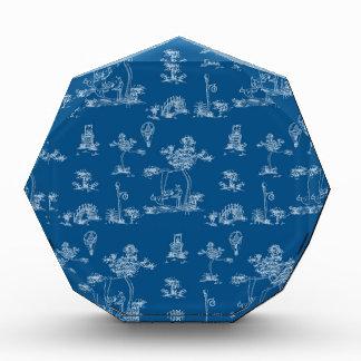 Toile Blue Unicorn Acrylic Award