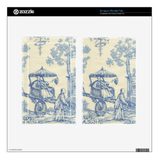 Toile - Blue & White Kindle Fire Decals