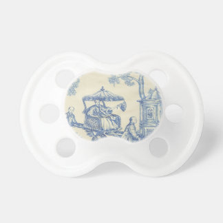 Toile - Blue & White Baby Pacifier