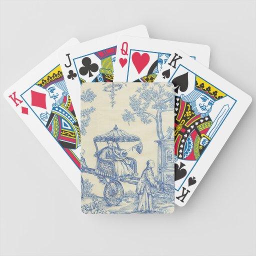 Toile - Blue & White Poker Deck