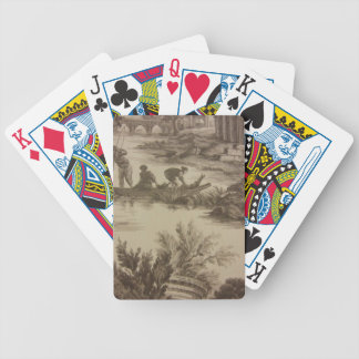 Toile Boating Scene Bicycle Playing Cards