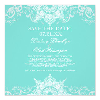 Toile Damask Swirl Save the Dates Personalized Announcements