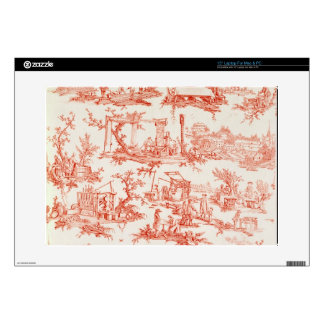 """Toile de Jouy, illustrating the processes of manuf 15"""" Laptop Decals"""