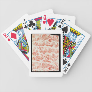 Toile de Jouy, illustrating the processes of manuf Bicycle Playing Cards