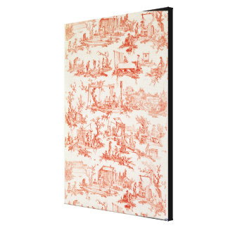 Toile de Jouy, illustrating the processes of manuf Canvas Print