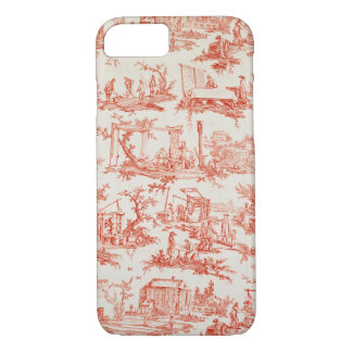 Toile de Jouy, illustrating the processes of manuf iPhone 7 Case
