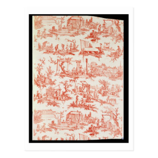 Toile de Jouy, illustrating the processes of manuf Postcard
