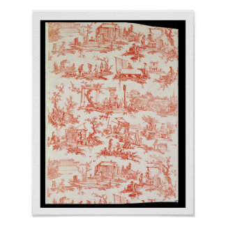 Toile de Jouy, illustrating the processes of manuf Poster