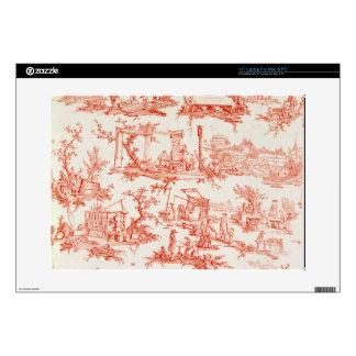 Toile de Jouy, ilustrando los procesos del manuf 38,1cm Portátil Calcomanías