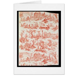 Toile de Jouy, ilustrando los procesos del manuf Tarjeta De Felicitación