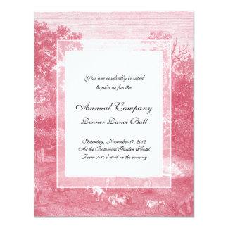 Toile de Jouy Shabby Pink Pastoral Landscape Card