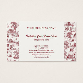 Toile De Jouy - Vintage Afternoon Business Card