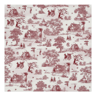 Toile De Jouy - Vintage Afternoon Poster