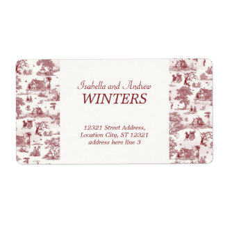 Toile De Jouy - Vintage Afternoon Shipping Label