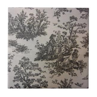 Toile en negro y blanco azulejo ceramica