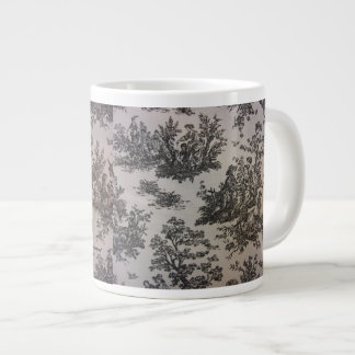 Toile en negro y blanco taza de café grande