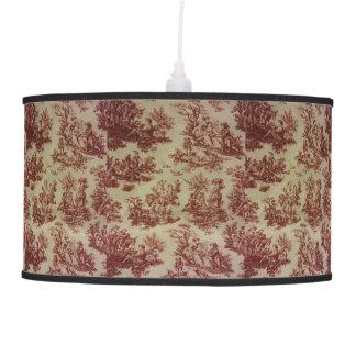 Toile en rosa y blanco lámpara de techo