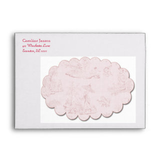Toile Envelope in Pink