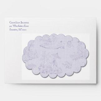 Toile Envelope in Purple
