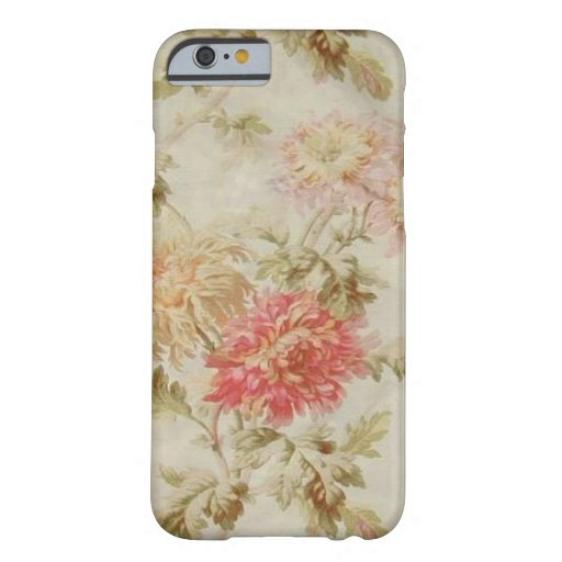Toile floral francés antiguo funda de iPhone 6 barely there